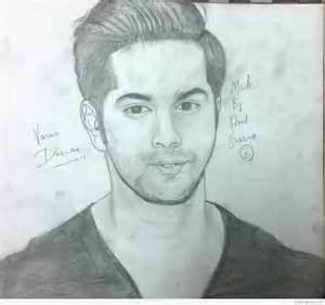 pencil sketch of varun dhawan desipainters com