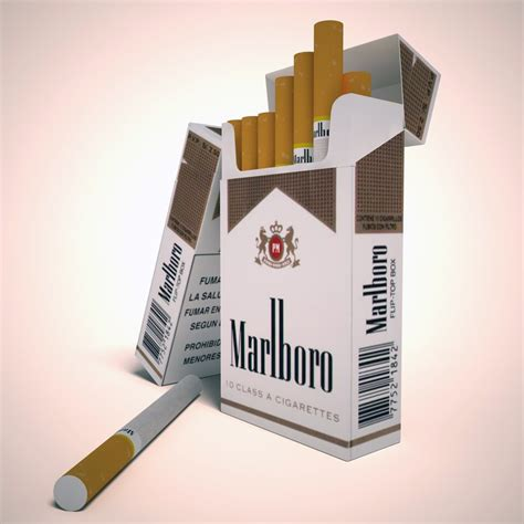 Marlboro Lights by Marlboro Lights Cigarette Pack 3d Model Max Obj 3ds