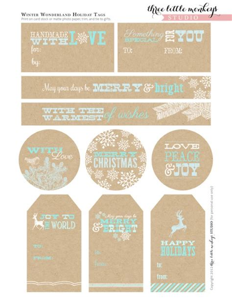 printable decorative gift tags editable christmas gift tags just b cause