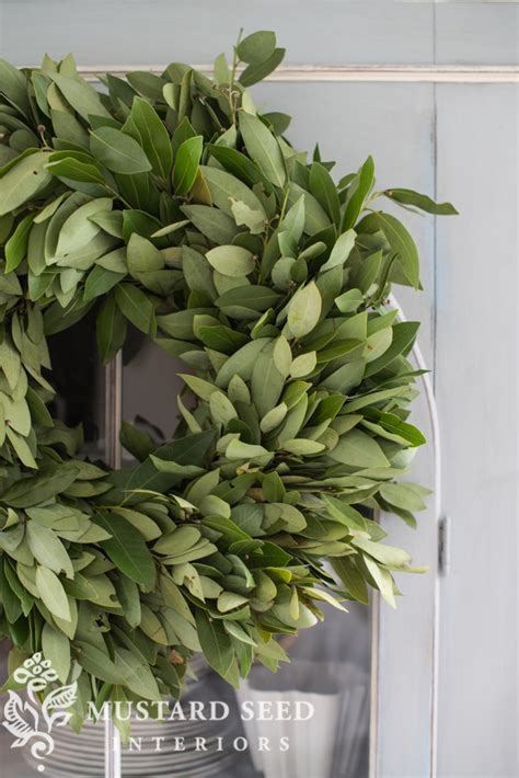 Bayleaf Wreath Bay Leaf Wreath Miss Mustard Seed