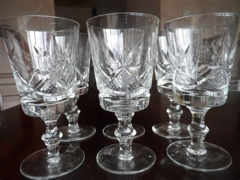 heavy wine glasses antiques atlas set of six etched and heavy cut glass