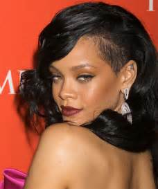 rihanna images of front and back hair styles rihanna pixie haircut front long and back short view