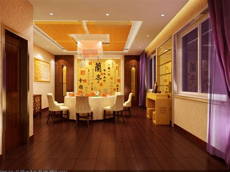 oriental chinese style dining room  model max cgtradercom