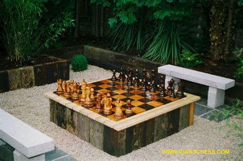 giant chess sets  great outdoor chess sets  garden