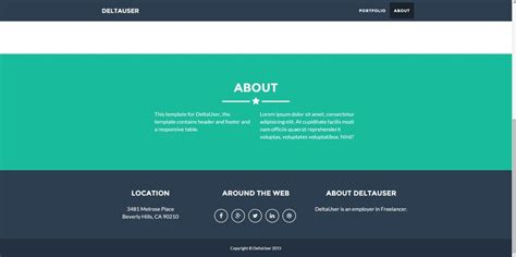 footer template entry 6 by saifadnan for css html table header
