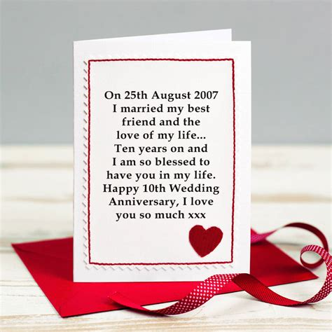 Wedding Anniversary Cards For by Personalised Wedding Anniversary Card By Arnott