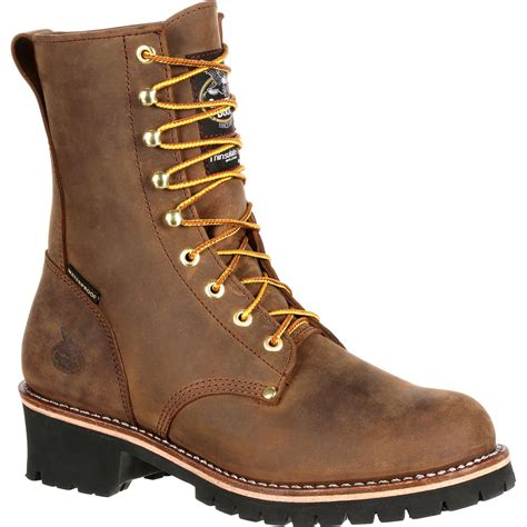 insulated work boots for boot steel toe waterproof insulated logger work