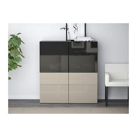 besta logging best 197 storage combination w glass doors black brown
