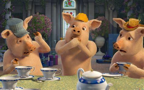 3 Blind Mice Story The Three Little Pigs Shrek The Third Cartoon Wallpaper