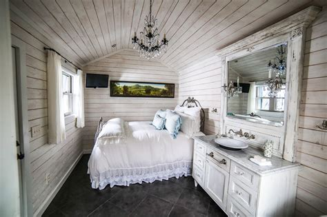 mountain cabin shabby chic style bedroom charlotte