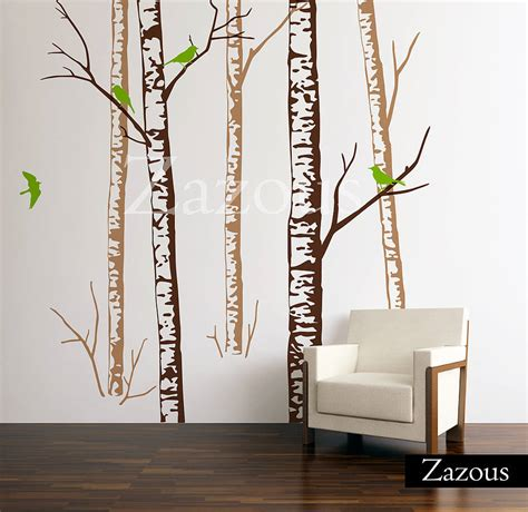 zazous wall stickers birch forest brown wall stickers by zazous