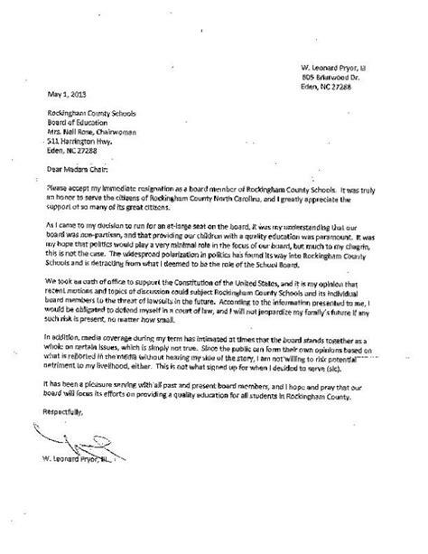 Resignation Letter Sles Pdf pryor boe resignation letter pdf greensboro news record home