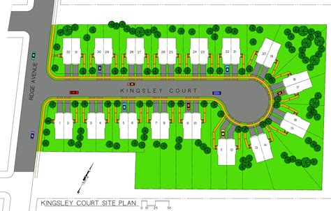 Houses Plan Kingsley Court Site Plan Of New Houses And Real Estate For