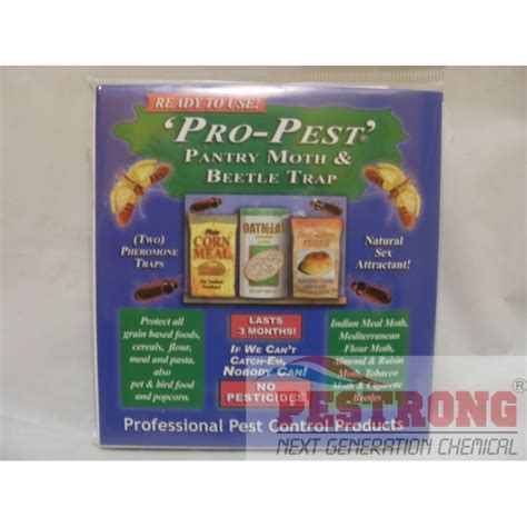 Pantry Moth Insecticide by Pro Pest Pantry Moth And Beetle Trap 1 Pack 2 Traps