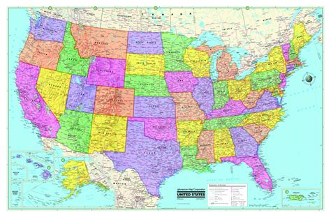 usa map poster large usa united states world wall maps posters new ebay