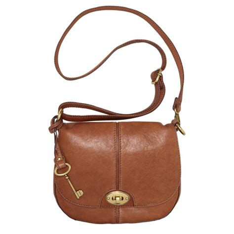 Fussil Womens 2in1 Shoulderbags fossil carson flap crossbody bag in brown lyst