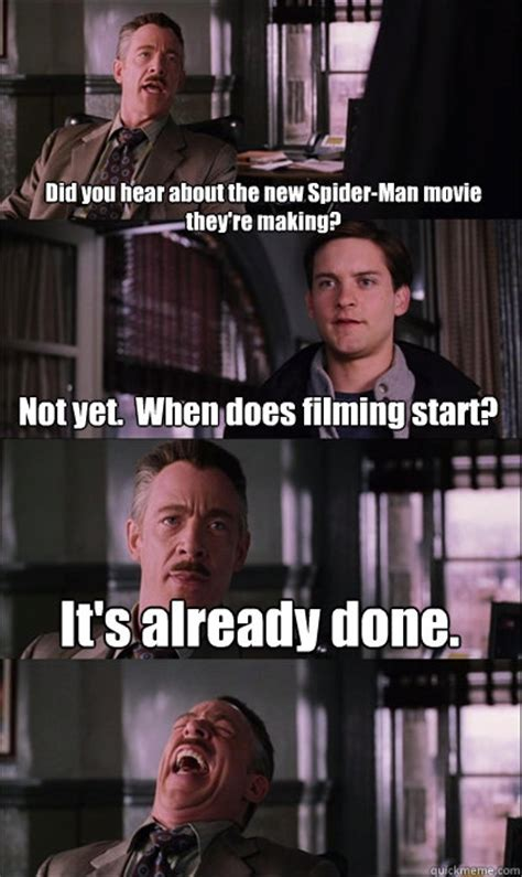 Spiderman Movie Meme - did you hear about the new spider man movie they re making