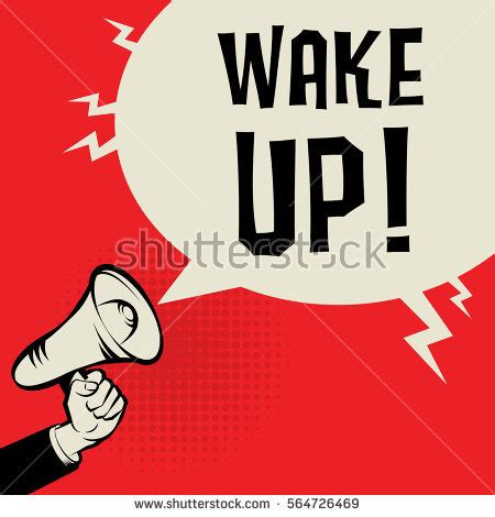 imagenes wake up megaphone hand business concept text wake stock vector
