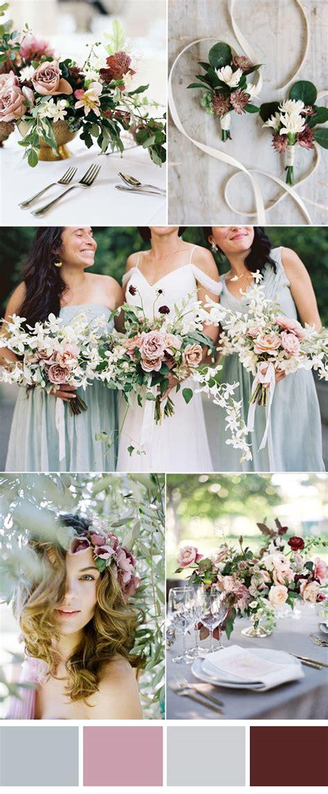 pretty wedding colors six pretty mauve wedding color combos for all brides