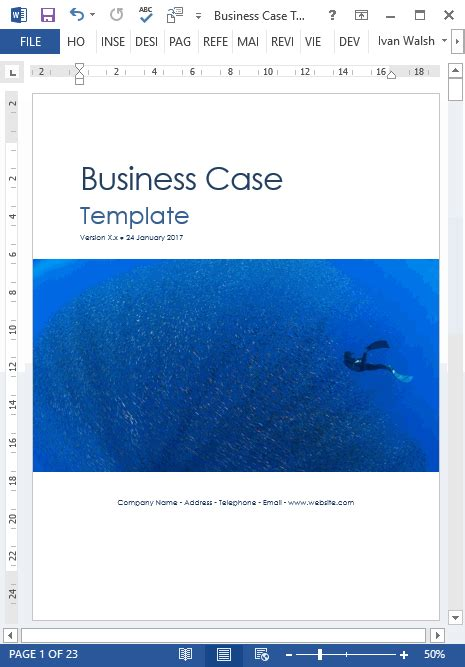 business template microsoft word business template 22 pages ms word with free sle