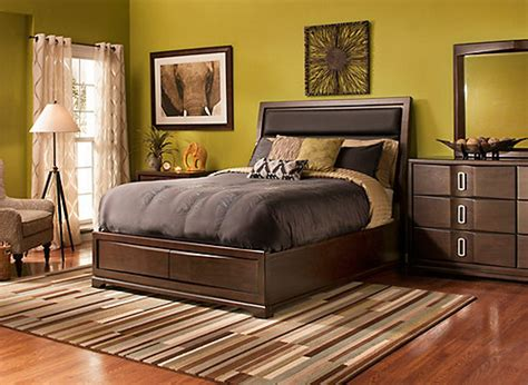 denali  pc king platform bedroom set  storage bed coffee ebony raymour flanigan