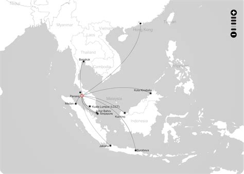 airasia route airasia route map from penang