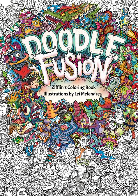 mini doodle colouring books zifflin coloring books