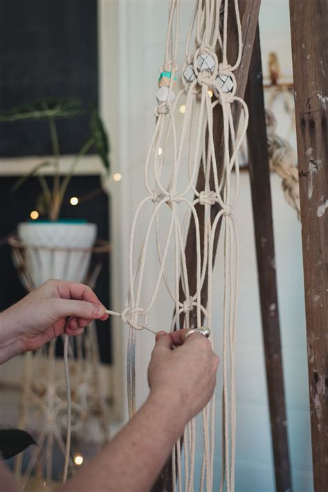 How To Make A Plant Hanger With Rope - diy macram 233 pot plant hanger nouba au diy