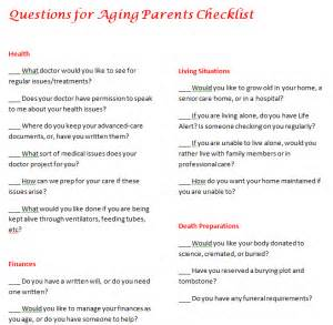 questions for aging parents checklist