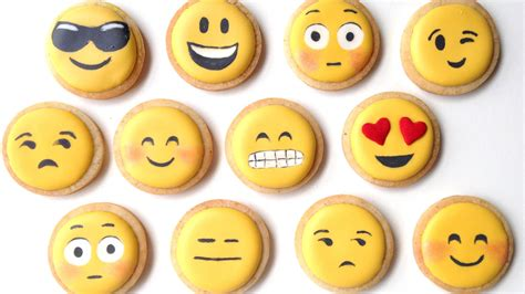 How to decorate emoji cookies with royal icing youtube