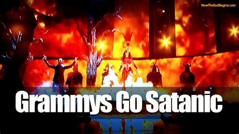 illuminati satanic open witchcraft and satanism on display at 2014 grammys