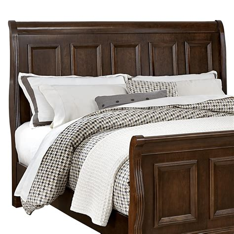 bassett headboards vaughan bassett woodlands bb98 553 queen sleigh headboard