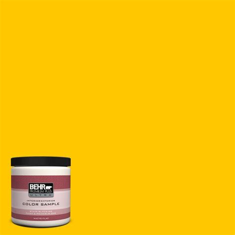 home depot behr paint yellow behr premium plus ultra 8 oz 370b 7 yellow flash