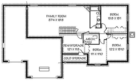 basement home floor plans contemporary ranch house plans home design edc r1786 8249