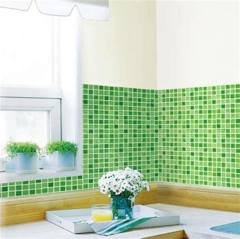 mosaik tapete tapete selbstklebend dekofolie mosaik fliesen gr 252 n bad