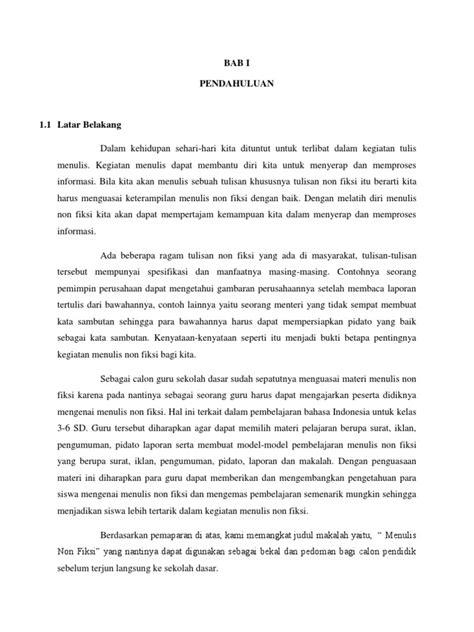 Contoh Cerita Non Fiksi Bahasa Indonesia – Berbagai Contoh