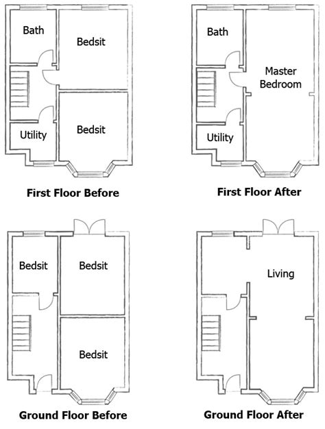 Floor Plans With Two Master Bedrooms by Opening Up Internal Spaces Homebuilding Amp Renovating