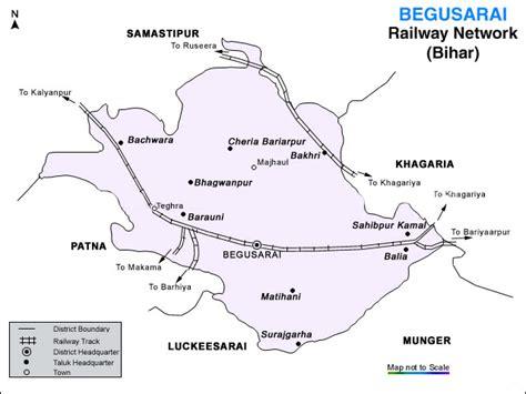 map of begusarai district rail map india begusarai railway map