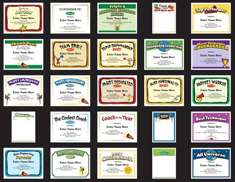 cheerleading certificates free awards templates