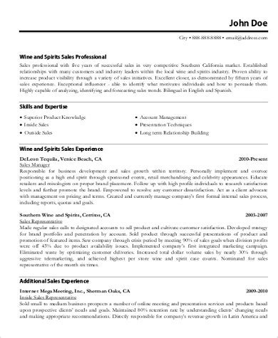 sle of a resume pdf sales resume sle 9 exles in word pdf
