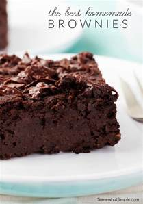 homemade brownies recipe the best one ever by somewhat simple