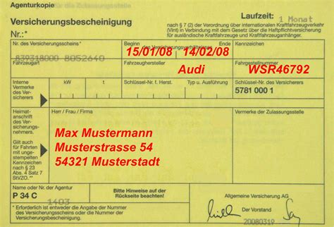 Kfz Versicherung 5 Tages Kennzeichen by Merkblatt Ausfuhrkennzeichen Merkblatt
