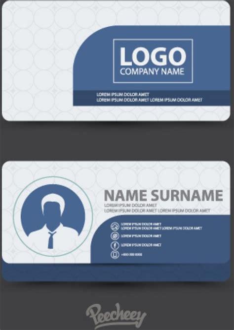 web design id card clean design business card free vector in adobe
