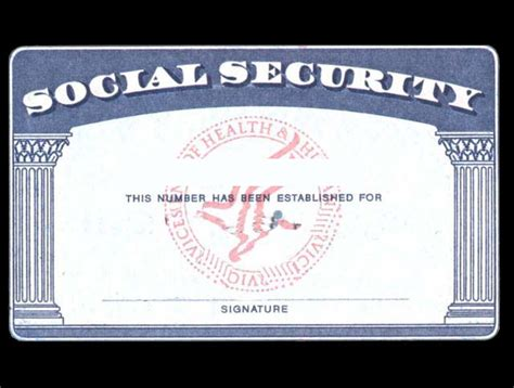 Blank Social Security Card Template by Blank Social Security Card Template With Seal Www