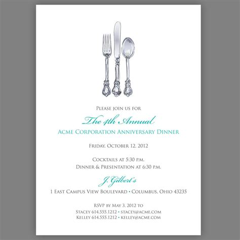 Corporate Dinner Invitation Template printable corporate dinner invitation by edencreativestudio