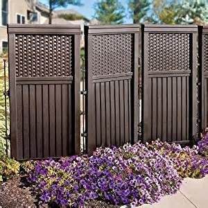 woven resin privacy screen brown