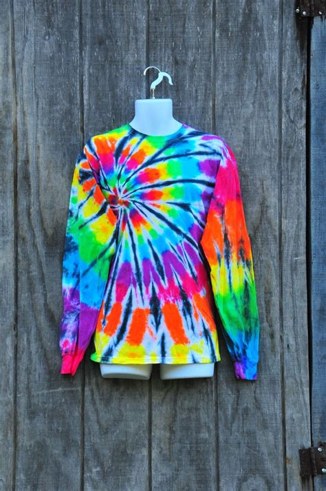 spiral pattern tie dye shirt by tiedyecollective on etsy