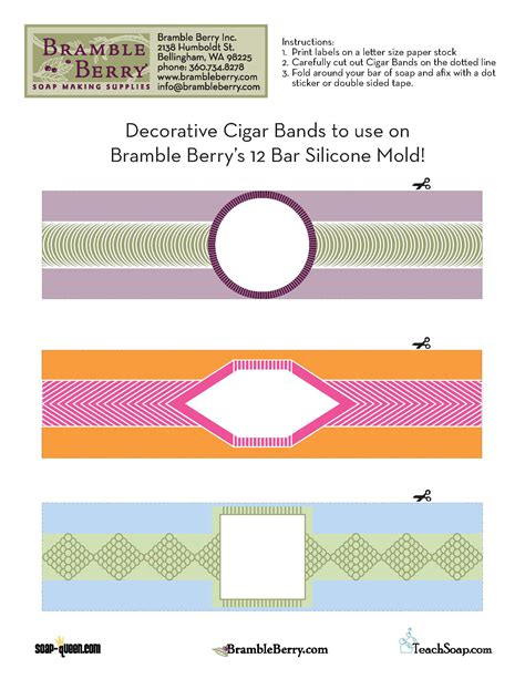 12 bar mold cigar band free downloadable file