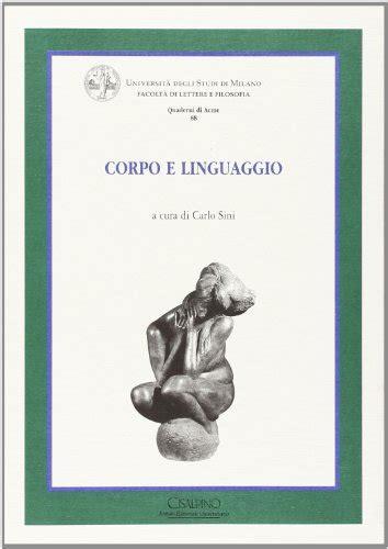 test linguaggio corpo corpo e linguaggio libriscientifici