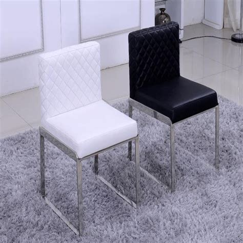 100 black dining room chairs fashion leather dining chair live room furniture 100 stainless steel chair black white
